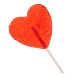 Coeur de sucrerie sur un bâton Photographie stock
