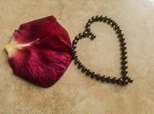 Coeur de symbole d'amour avec les roulements à billes magnétiques photographie stock