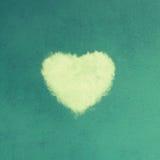 Coeur de symbole de nuages de l'amour Image libre de droits