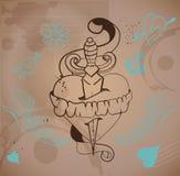 coeur de tatouage de style de Vieux-école Images stock