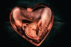 Coeur de temps Image stock