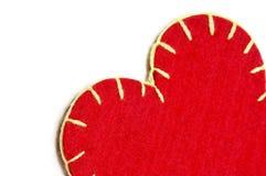 Coeur de textile Photos libres de droits