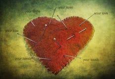 Coeur de tissu Photographie stock