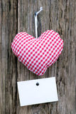 Coeur de tissu Photo libre de droits