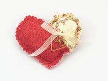 Coeur de tissu Photos stock