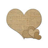 Coeur de toile de jute Photo stock