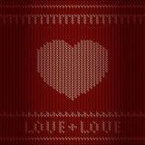 Coeur de tricotage Illustration Stock