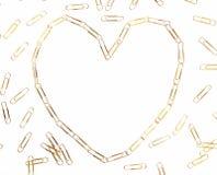 Coeur de trombone Images libres de droits