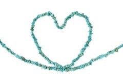 Coeur de turquoise Photos stock