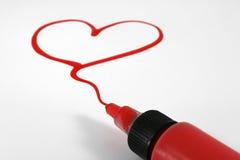 Coeur de Valentine Photos stock