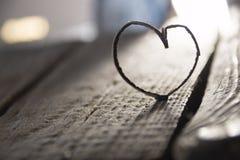 Coeur de Valentine, amour ou carte de mariage Copiez l'espace pour le texte Photo libre de droits