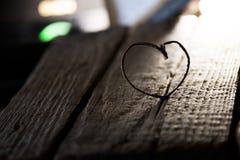 Coeur de Valentine, amour ou carte de mariage Copiez l'espace pour le texte Photo stock