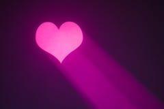 Coeur de Valentine avec le rayon pourpré Images libres de droits