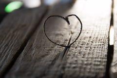 Coeur de Valentine - carte d'amour ou de mariage, style de vintage Images libres de droits