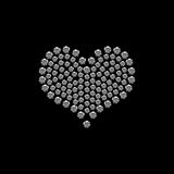 Coeur de Valentine de diamant Photographie stock