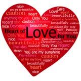 Coeur de Valentine de l'amour Photo libre de droits