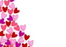 Coeur de Valentine fait de beaucoup de petits coeurs roses de velours Image stock