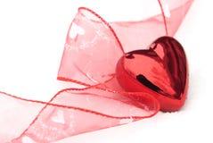 Coeur de Valentines dans la neige Photos libres de droits