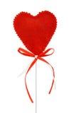 Coeur de Valentines sur un bâton Photographie stock