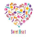 Coeur de vecteur fait de bonbons Image libre de droits