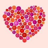 Coeur de vecteur fait de boutons Photos libres de droits
