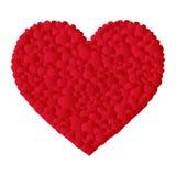 Coeur de vecteur fait de petits coeurs Images stock