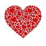 Coeur de vecteur fait de petits coeurs Photos libres de droits
