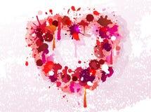 Coeur de vecteur fait de souillures Photo stock