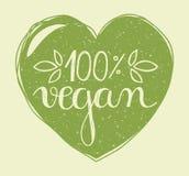 Coeur de Vegan Image libre de droits