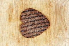 Coeur de viande Photographie stock libre de droits