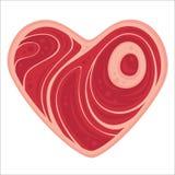 Coeur de viande Photographie stock