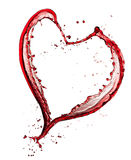 Coeur de vin rouge Images libres de droits