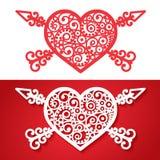 Coeur de vintage avec les flèches croisées Photographie stock