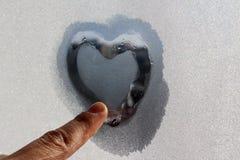 Coeur de volume de glace Photo libre de droits
