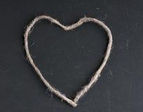 Coeur de vue des soins de santé de concept d'amour de ficelle Image libre de droits