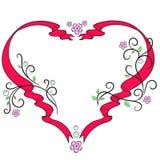 Coeur de vue pour des amants Photographie stock libre de droits