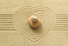 Coeur de zen Photographie stock