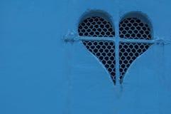 Coeur derrière les barres Images stock