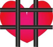 Coeur derrière les frontières Images libres de droits