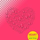 Coeur des baisses de l'eau illustration de vecteur