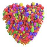 Coeur des ballons photographie stock libre de droits