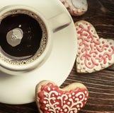 Coeur des biscuits pour la Saint-Valentin de vacances Images stock