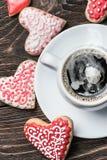Coeur des biscuits pour la Saint-Valentin de vacances Photos stock