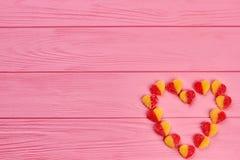 Coeur des bonbons et de l'espace de copie Image libre de droits