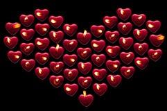 Coeur des bougies Photo stock