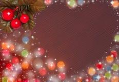 Coeur des cartes d'amour et de Noël Photos libres de droits