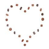 Coeur des chocolats fins Image stock