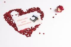 Coeur des coeurs comme signe d'amour - Allemand Images stock