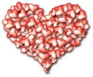 Coeur des coeurs - rouge image libre de droits