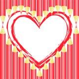 Coeur des crayons Images libres de droits